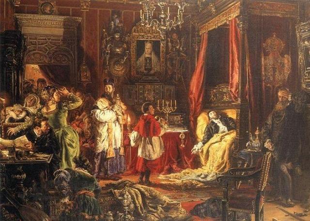«Смерть Сизигмунда II в Кнышине», худ. Ян Матейко./фото: persons-info.com