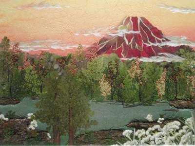 Японец создает необычные картины из засушенных листьев. Фото