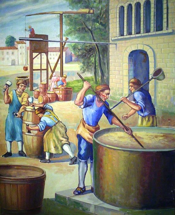 Процесс приготовления пива.   Фото: brewingmuseum.org.