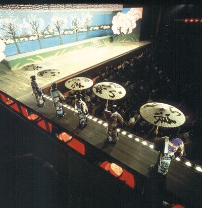 Сцена театра кабуки фото