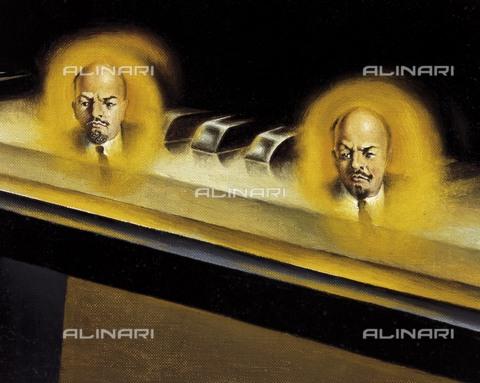 Dali. Частичное помрачение. Шесть явлений Ленина на рояле (1931). 2.jpg