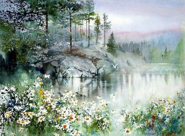 Акварельные пейзажи Ниты Энгл (Nita Engle)
