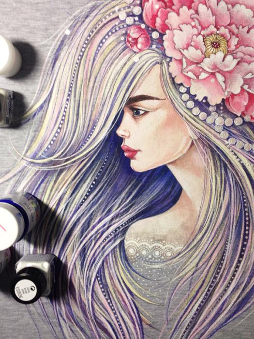 Рисунок на одежде. Автор: Леся Недзельская.