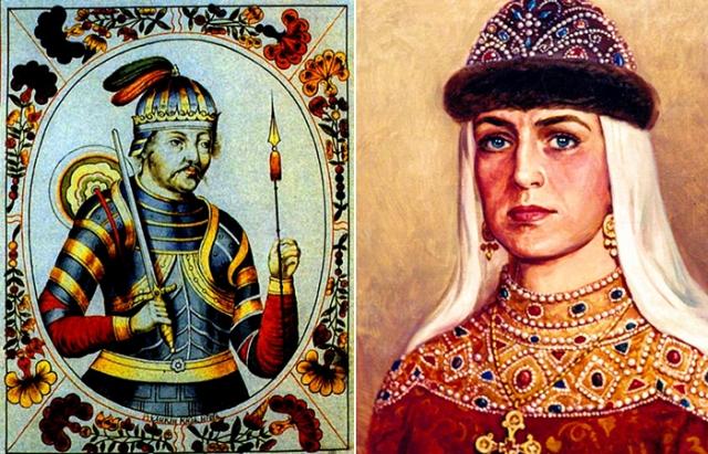 Великий князь Игорь и княгиня Ольга - дед и бабка Владимир Красное Солнышко.