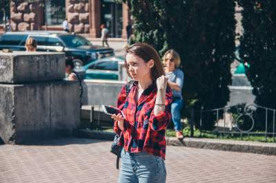 Как отпраздновали в Киеве День государственного флага. Фото