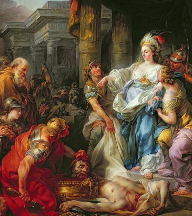 Обезглавливание Кира Великого (1811) Бертелеми Жан-Симон.