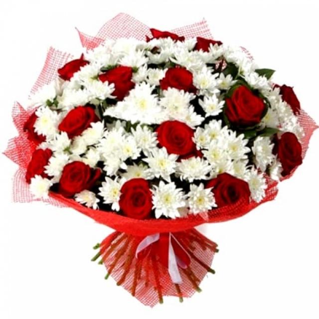 Картинки по запросу хризантемы с розами букет