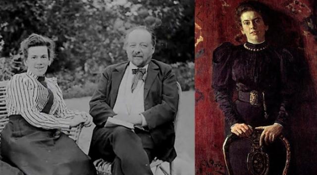 Татьяна Сухотина, дочь Толстого, на фото и на портрете кисти Репина | Фото: e-vesti.ru