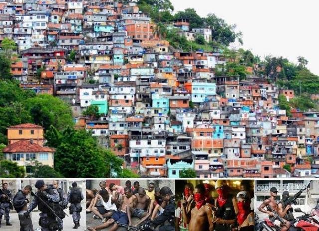 Фавелы в Рио-де-Жанейро - опасные кварталы, куда лучше не соваться.