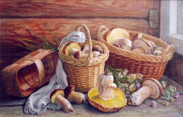 """Результат пошуку зображень за запитом """"Натюрморты с грибами. Подборка работ разных авторов - фото."""""""