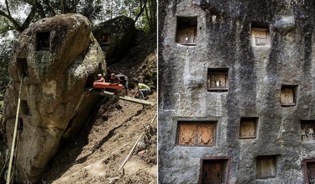 Умерших хоронят в пещерах.