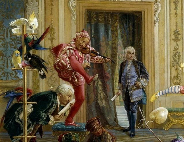 Портрет Педрило с картины «Шуты при дворе императрицы Анны Иоанновны». Автор: В.Якоби.