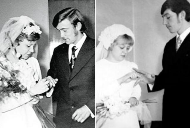Сестры Юкины в день бракосочетания | Фото: chtoby-pomnili.com и radikal.ru