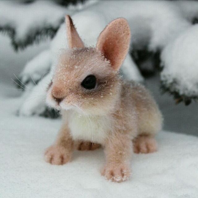 Ðгрушки животные, ручной работы. Ярмарка МаÑтеров - Ñ€ÑƒÑ‡Ð½Ð°Ñ Ñ€Ð°Ð±Ð¾Ñ'а. Купить Крольчонок. Ðгрушка иРшерÑти. Handmade. Кролик, rabbit