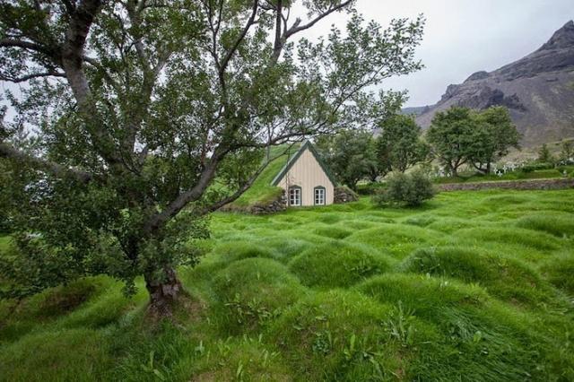 Дерновые дома - уникальные постройки в исландской архитектуре