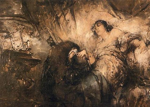 Фрагмент картины «Зигмунт и Барбара», худ. Ф.Жмурко./фото: sarrest.ru