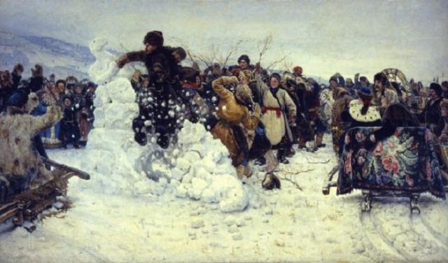 Взятие снежного городка. Автор: В.Суриков.