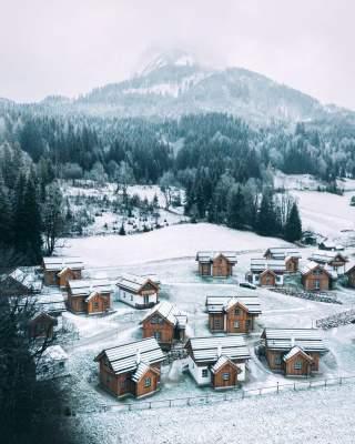 Зимняя Австрия в необычных пейзажах. Фото