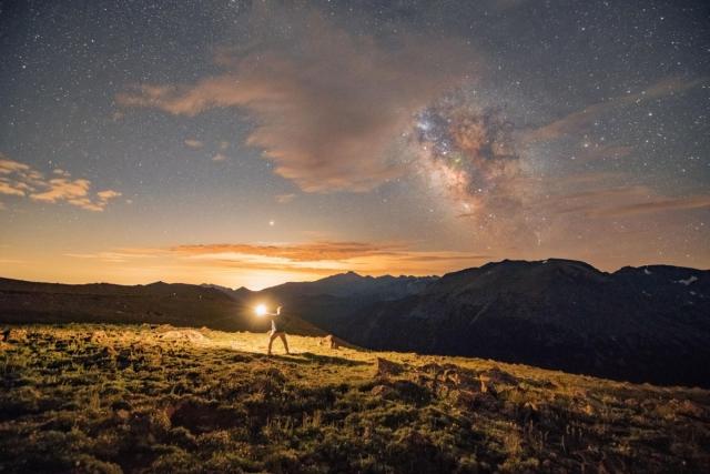 Млечный Путь над Роки-Маунтин